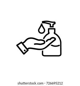 hand, liquid soap icon vector