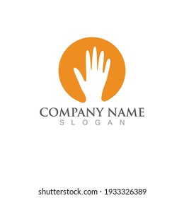 Hand logo and symbol vector