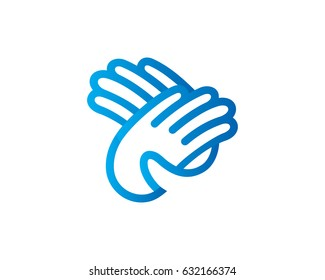 Hand Logo Template Design Vector, Emblem, Design Concept, Creative Symbol, Icon