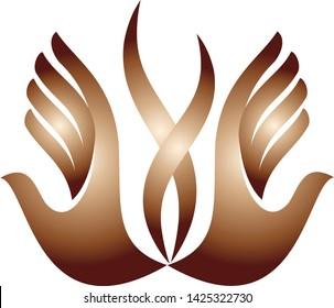 hand logo vector abstract icon