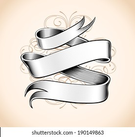 Hand made calligraphy vector ribbon (Eps 8)