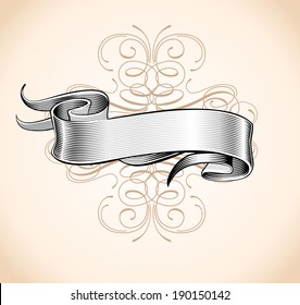 Hand made calligraphy vector ribbon (Eps 8)