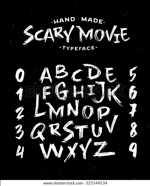 Hand Made Scribble Font Scary Movie Stock Vector Royalty Free 325544534