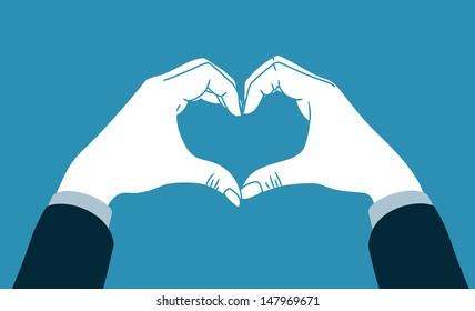 hand making heart symbol