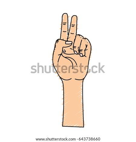 Hand Middle Finger Fingerprint Symbol Stock Vector Royalty Free