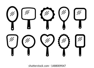 Handheld Mirror Stock Illustrations – 53 Handheld Mirror Stock  Illustrations, Vectors & Clipart - Dreamstime