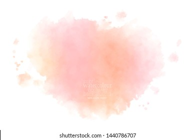 hand painted wet pink watercolor splash.  eps 8
