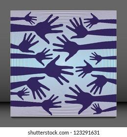 Hand pattern vector.