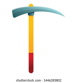 Hand pick axe icon. Cartoon of hand pick axe vector icon for web design isolated on white background
