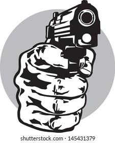 Hand with a pistol