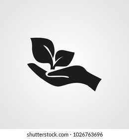 hand with plant icon