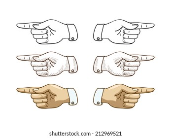 Hand pointer vector illustration