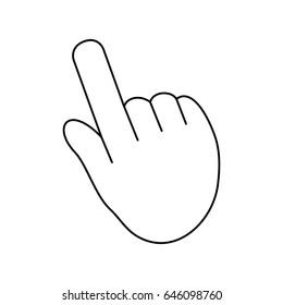 Hand pointing cursor