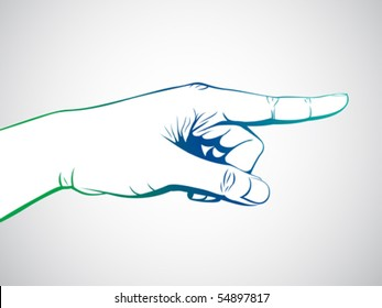 hand with pointing finger