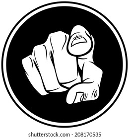 Hand Pointing Insignia