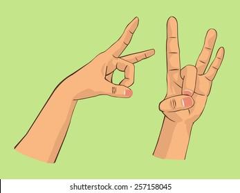 hand preparing to flick
