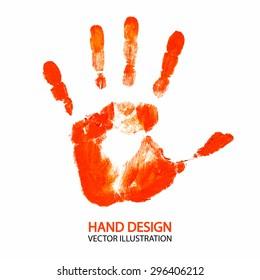 Hand print. Vector illustration