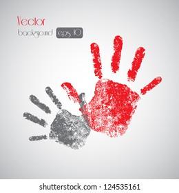 Hand prints on background - Vector illustration Eps10, Graphic Design