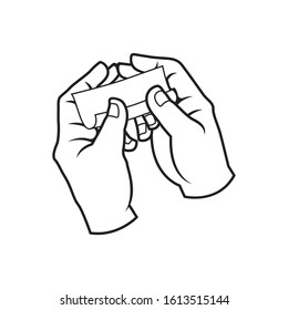 hand rolled cigarette paper illustration vector