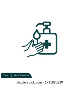 hand sanitizer icon illustrator vector eps 10