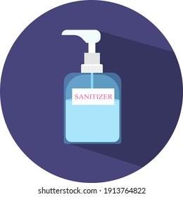 Hand sanitizer, illustration, vector on a white background.