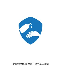 hand sanitizer logo and icon vector illustration