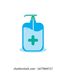 Hand sanitizer,vector hand sanitizer symbol / alcohol bottle for hygiene. Alcohol rub sanitizers.