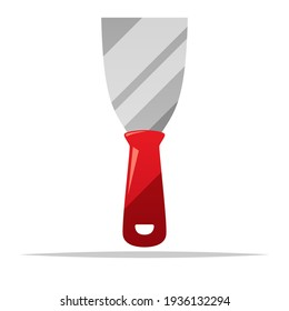 Hand scraper tool vector isolated illustration