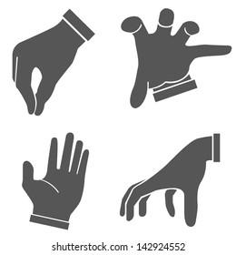 hand set, hand sign