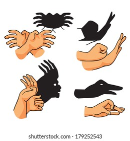 how to make finger shadows