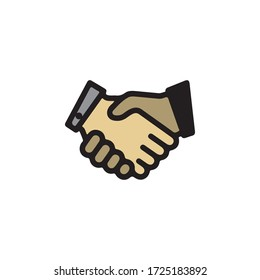 Hand Shake Gestures of Human Hand Icon In Trendy  Design Vector Eps 10