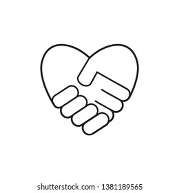 hand shake icon design template
