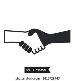 hand shake icon symbol sign, vector, eps 10