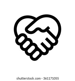 Hand shake line icon. Pixel perfect fully editable vector icon suitable for websites, info graphics and print media.