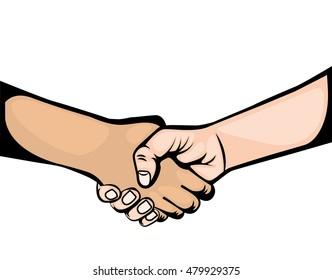 hand shake symbol icon vector illustration design