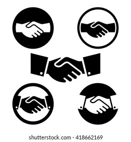 Hand Shake Symbol set