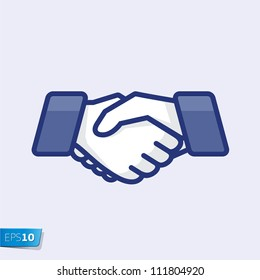 Hand shake, vector Eps 10 illustration.