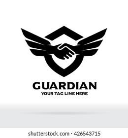 Hand Shake and Wing Logo