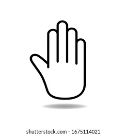 Hand sign icon. Vector illustration. Stop virus concept