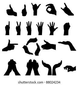 hand signal on white. vector illustration