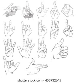hand signal,finger signs vector
