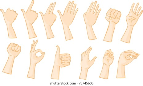 Hand signs and postures