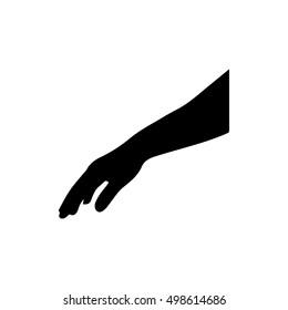 Hand silhouette - vector illustration