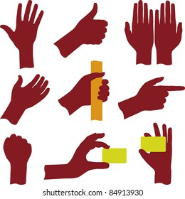 Hand silhouettes (vector)