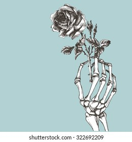 bf0e39735ea11 Skeleton Hand Rose Images, Stock Photos & Vectors | Shutterstock