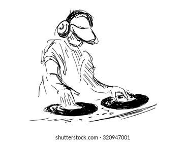 hand sketch DJs