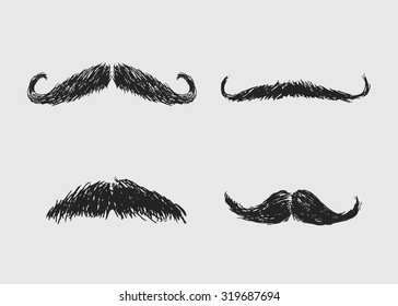 hand sketch mustaches