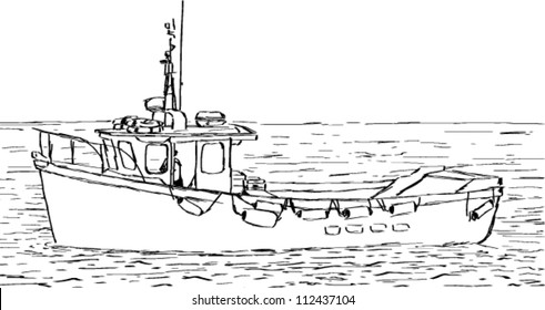 Fishing Boat Drawing Images Stock Photos Vectors Shutterstock