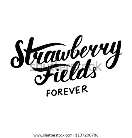 Hand sketched lettering Strawberry