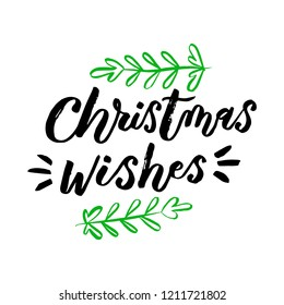 Hand sketched lettering typography.  Trendy Christmas lettering art. Winter collection. Ready-to-print design template. Clothes badge,icon,logo,banner,tag. Vector illustration.